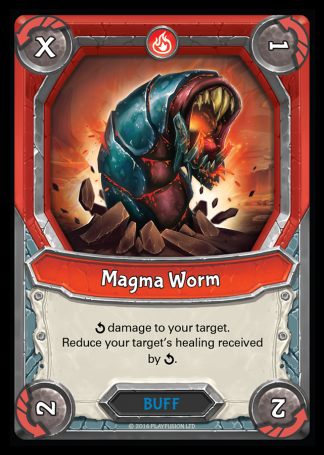 Magma Worm (Mountain - Buff - Uncommon) - Lightseekers TCG