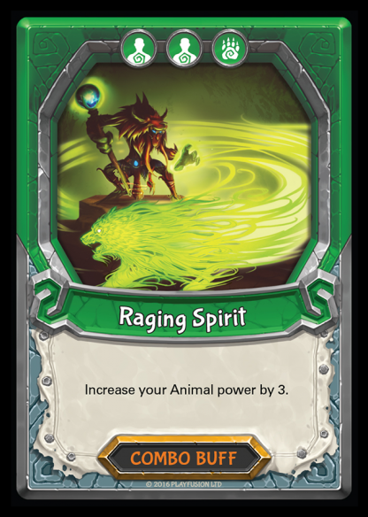 Raging Spirit (Nature - Combo - Rare) - Lightseekers TCG