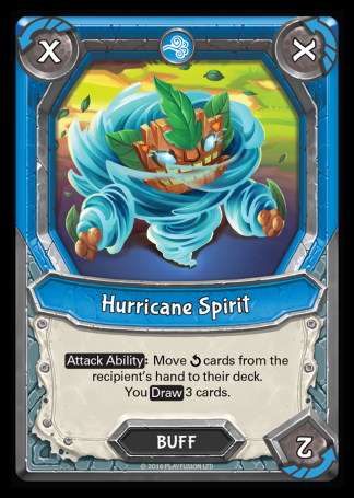 Hurricane Spirit (Storm - Buff - Common) - Lightseekers TCG